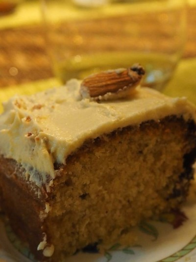 Organic Carrot Cake with Walnuts and Lemon Cream Cheese Frosting