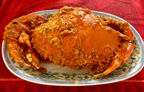 Peranakan spices chilli crab