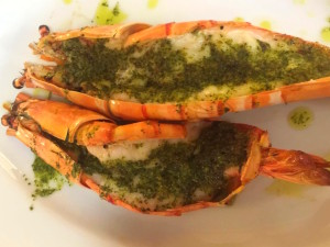 Grilled King Prawn with Homemade Basil Pesto