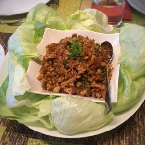minced-chicken-radish-lettuce-wrap - Lynnette's Kitchen