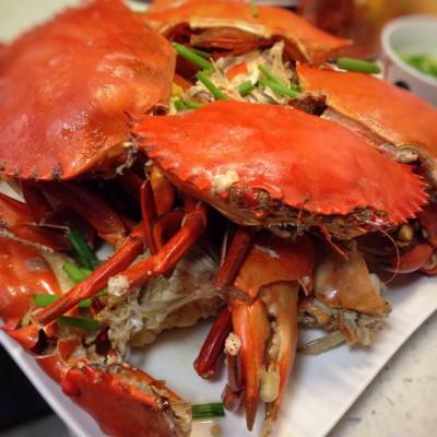 steamed-crabs-lemongrass-ginger-rice wine
